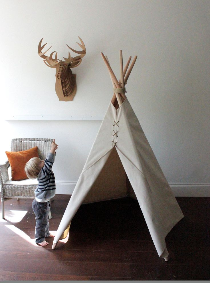 6 ft Kid's Teepee // BACKORDERED until November 20th. $150.00, via Etsy. #ModernThanksgiving