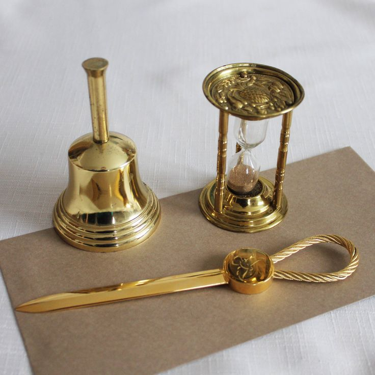 The 25 best gifts for managers ideas on pinterest christmas vintage set office desk decor small desk bell letter opener sand timer easter gift for him negle Gallery