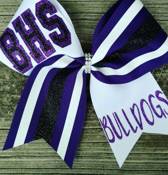 Check out this item in my Etsy shop https://www.etsy.com/listing/398304477/team-cheer-bows-you-pick-colors-custom