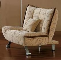 Button-Tufted Contemporary Sleeper Chair