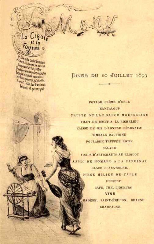 vintage french menu posters Google Search Vintage menu