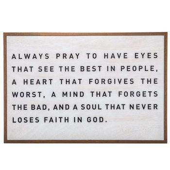 Always Pray Wood Wall Decor