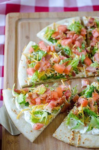 Cheesy BLT Pizza