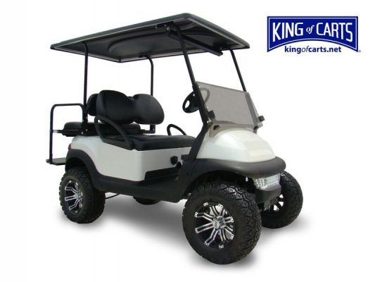 pearl white lifted golf cart for sale