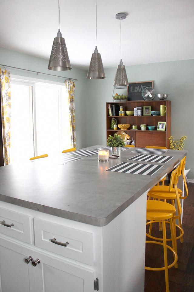 Drew And Vanessa Kitchen Looks Like Concrete Decoratingkitchen Kitchen Remodel Countertops Kitchen Countertops