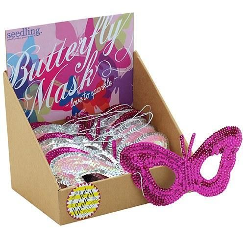 Pocket Money Collection - Butterfly Mask - Love To Sparkle. What a HUGE hit this would be at a fairy party for girls! Great party favor
