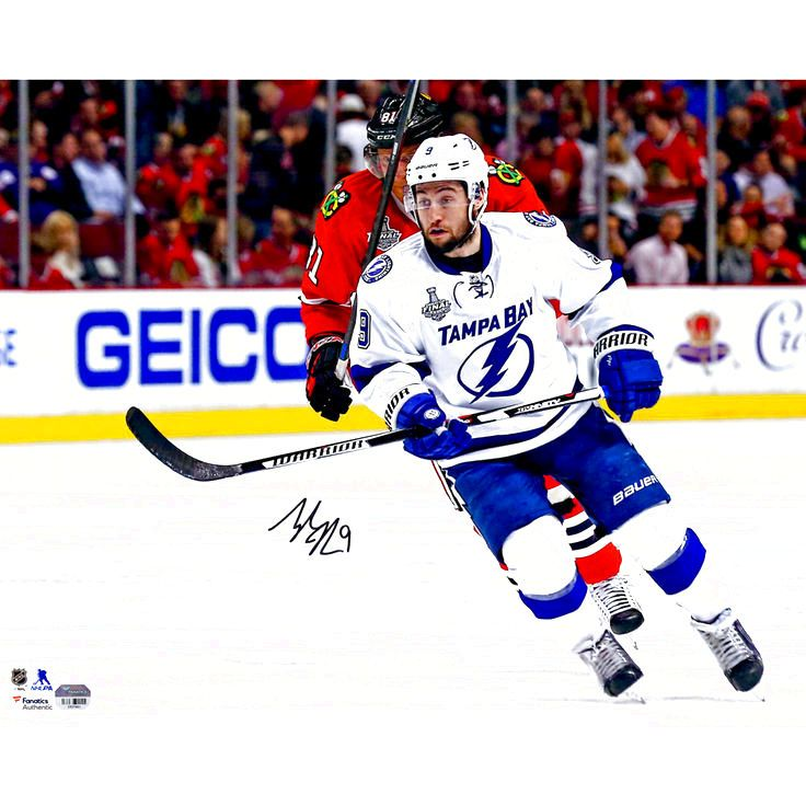 """Tyler Johnson Tampa Bay Lightning Fanatics Authentic Autographed 16"""" x 20"""" Stanley Cup Finals Action Photograph - $43.99"""