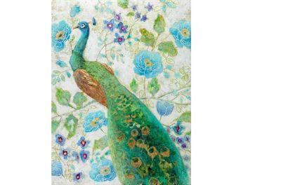 Billede Paon aux fleurs 60x100 cm