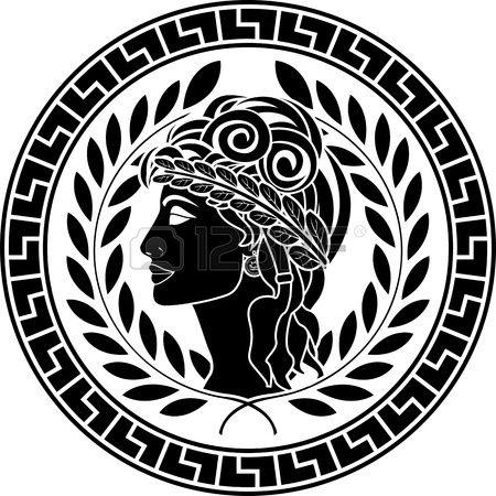 pochoirs en noir des femmes patriciennes deuxi me variante illustration vectorielle Banque d'images