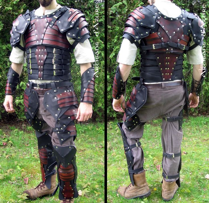 Full leather armor with slats by *ArtisansdAzure on deviantART http://artisansdazure.deviantart.com/art/Full-leather-armor-with-slats-187365370