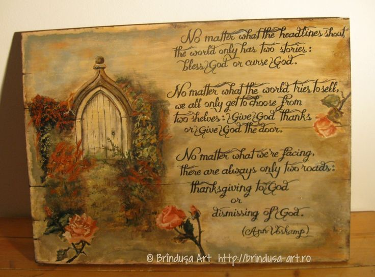 Brîndușa Art Fall/ autumn landscape with an inspirational quote by Ann Voskamp, about thankfulness to God - painting on wood. Thanksgiving and a personal choice, a new path to enter...  Peisaj de toamnă cu un citat din Ann Voskamp, despre recunoştinţă şi ce înseamnă să-I aduci mulţumiri lui Dumnezeu - pictură pe lemn. #woodpainting #picturapelemn #BrindusaArt #annvoskamp