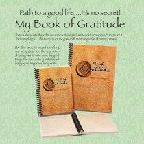 My LITTLE BOOK OF GRATITUDE. We should be grateful every day for all the good stuff that goes on in our lives. Sometimes its easy to get bogged down with all the not so good things that come along and we forget just how amazing life is. This book helps you remember the good things and can help make you HAPPY http://www.southfield-stationers.com/stationery/notepads-184/lifestyle-books-514/