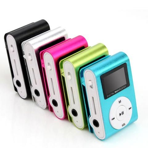 wholesale Superior Mini USB Metal Clip MP3 Player LCD Screen Support 32GB Micro…