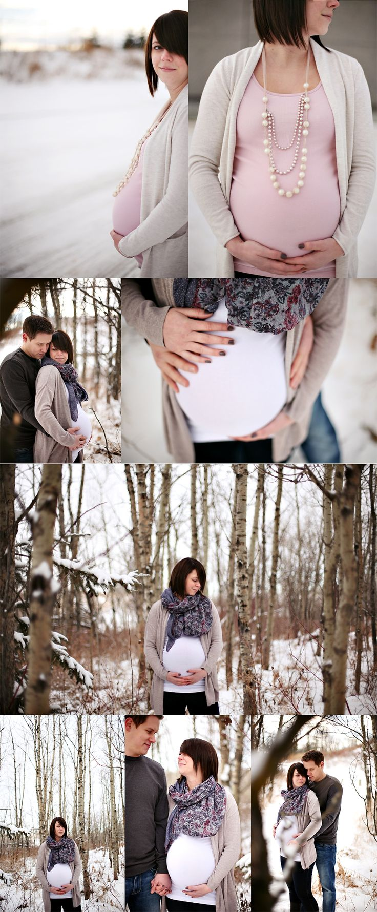 winter maternity session.