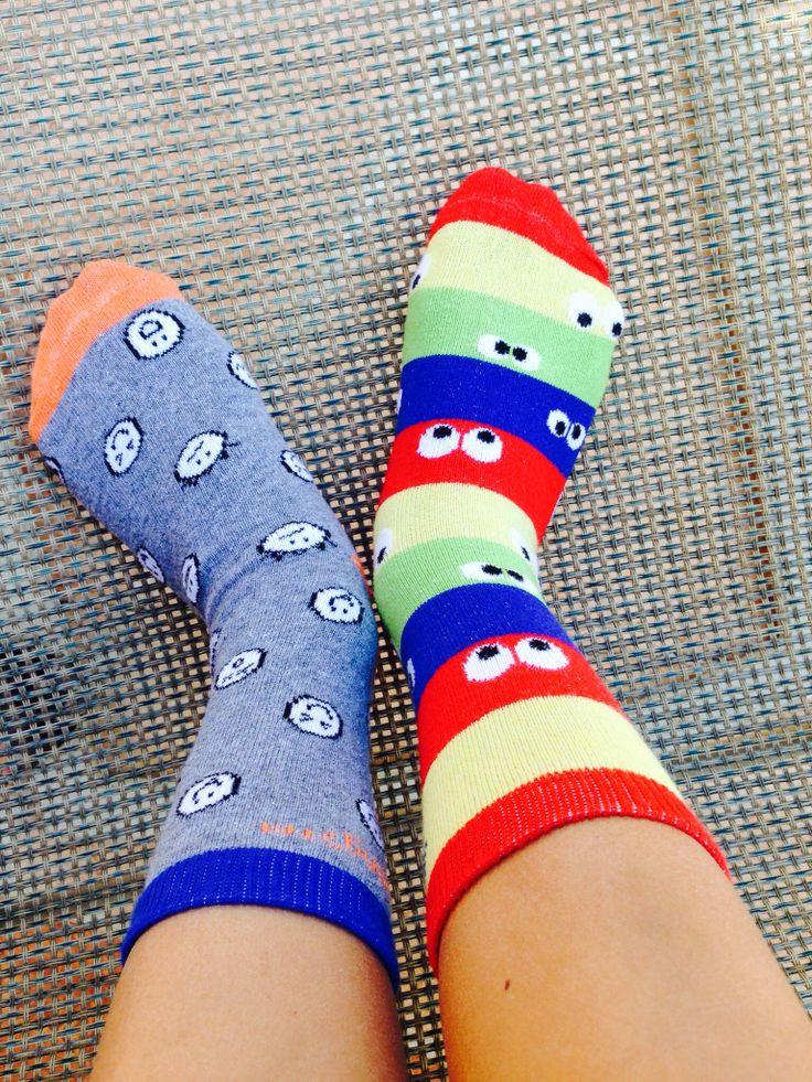 Being wacky on wacky Wednesday! Are You Kidding?! Find your wacky kids socks www.areyoukidding.net