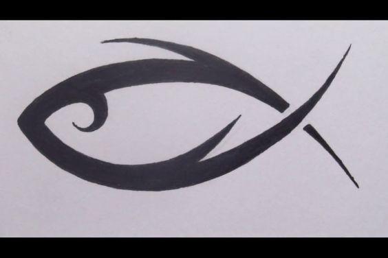 … jesus ichthus tattoo tribal fish christian tattoos christian art fish –  – #smalltattoos