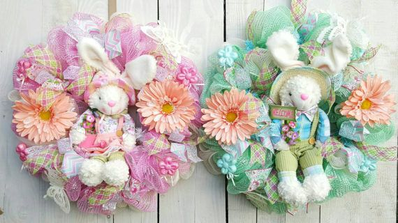 Check out this item in my Etsy shop https://www.etsy.com/listing/506441642/bunny-wreath-easter-wreath-double-door