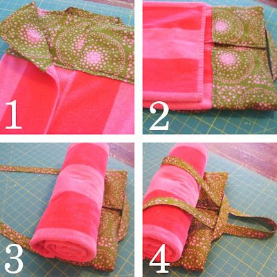 Want to combine this DIY towel tote with a fun beach towel and I think it would be the perfect beach bag