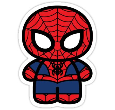 Cute Spider-Man sticker. Not nearly enough of this 'kawaii' treatment of Spider-Man out there.