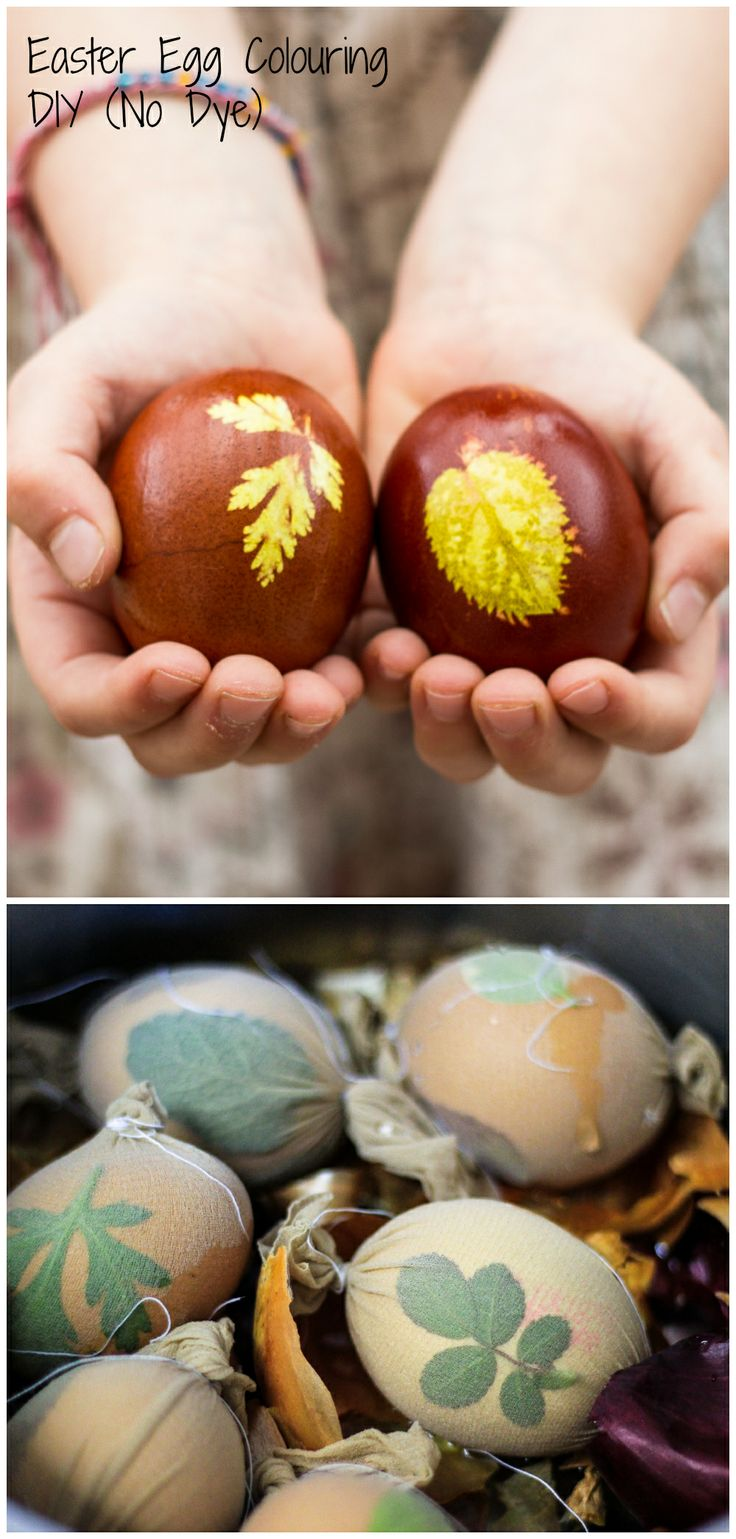 (Eastern Europe) Easter Egg Colouring DIY using onion peel.