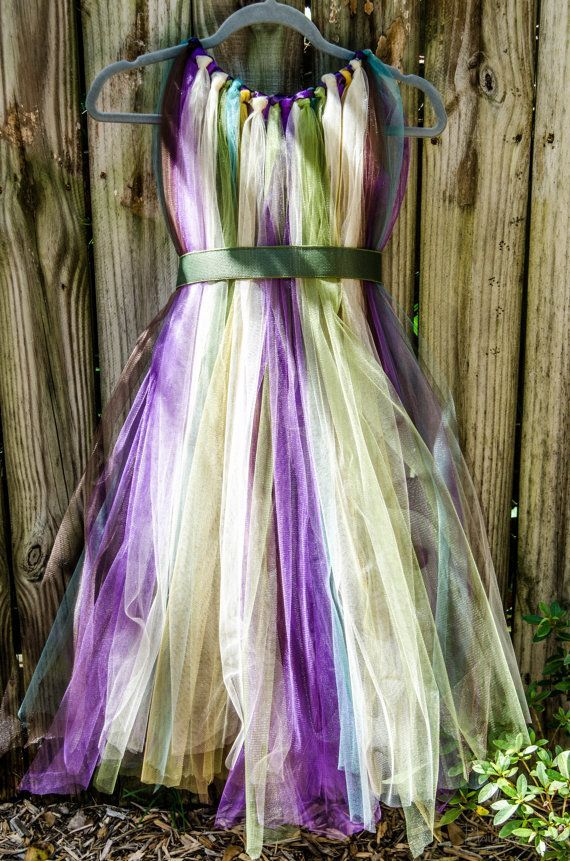 Forest Fairy TuTu Dress Flower Girl Costume by Rhi…