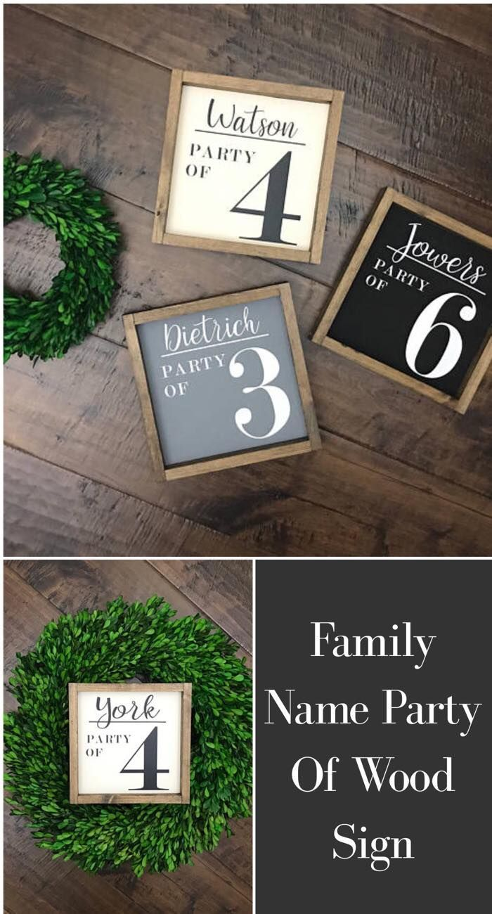 These Party Of Signs Are So Cute Affiliate Homedecor Rustic