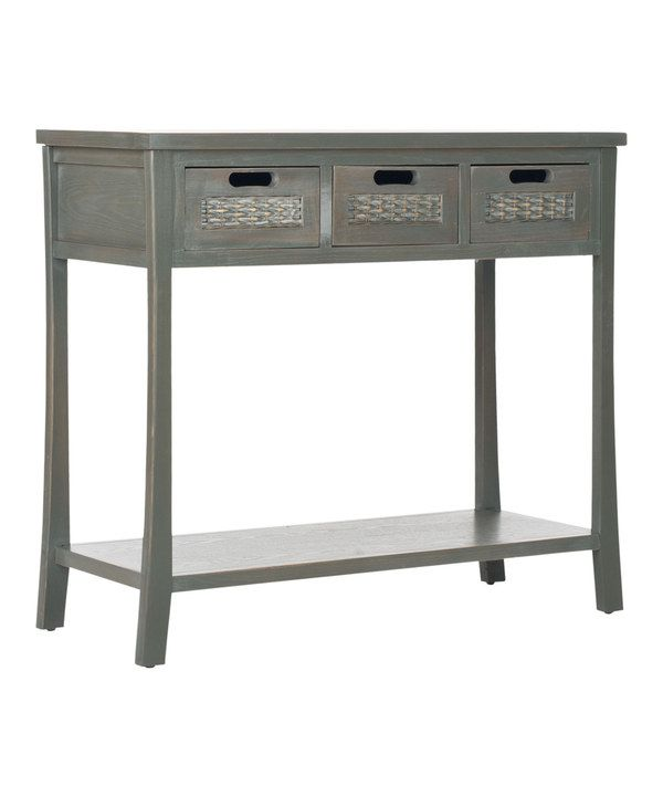 Look at this Gray Freddy Three-Drawer Console Table on #zulily today!