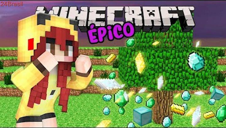 Minecraft Épico #4: PLANTAÇÃO DE MINÉRIOS   Minha nova casa Hobbit ♥ω♥