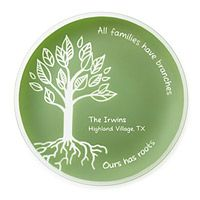 Personalized Family Roots Platter | UncommonGoods  All families have branches, ours has roots.