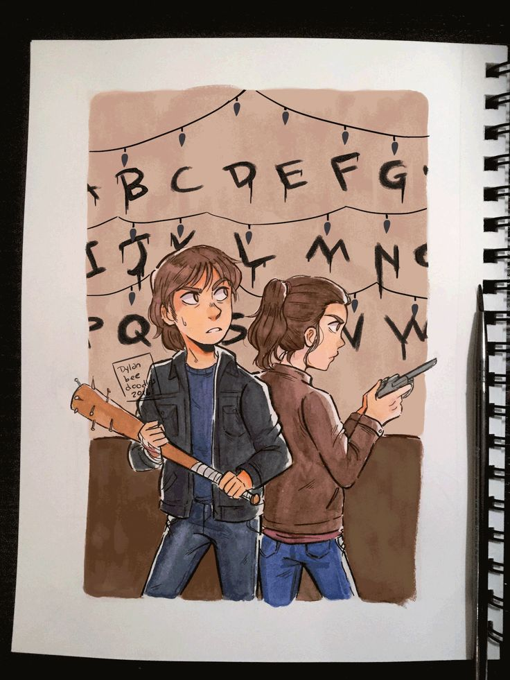 """It's here…""Jonathan Byers and Nancy Wheeler from Stranger Things by Dylan B. Caleho"