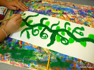 Jack and the Beanstalk painting inspiration
