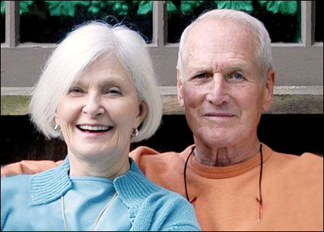 Paul and Joanne Joanne and Paul Newman.  Paul Newman and Newman's Own Foundation have donated more than $350 million to thousands of charities around the world.  God Bless Him!