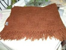 Wollen/ acrylic  mix  luxury  textured throw made in India.