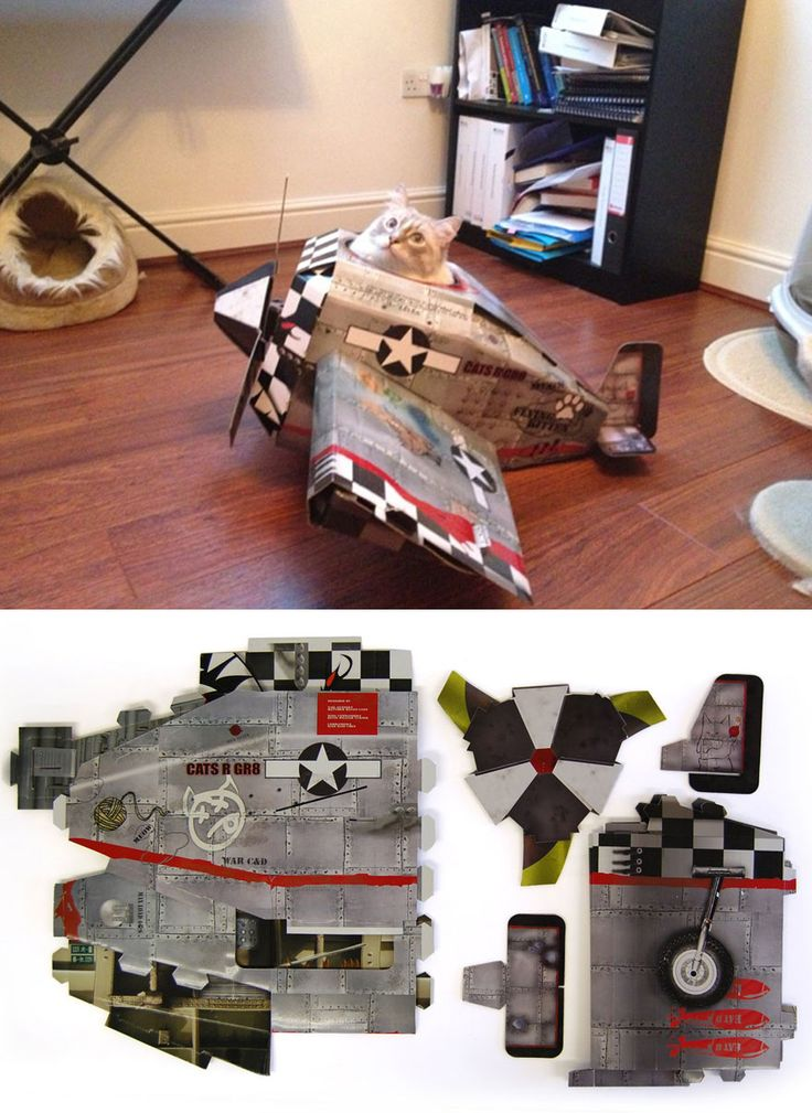 This Company Makes Cardboard Tanks, Planes And Houses For Cats, And Your Master Needs Them Right Meow! (7 Pics)
