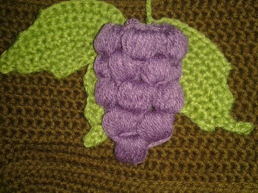 Crochet grapes ch 50 Grapes purse Pinterest Crochet