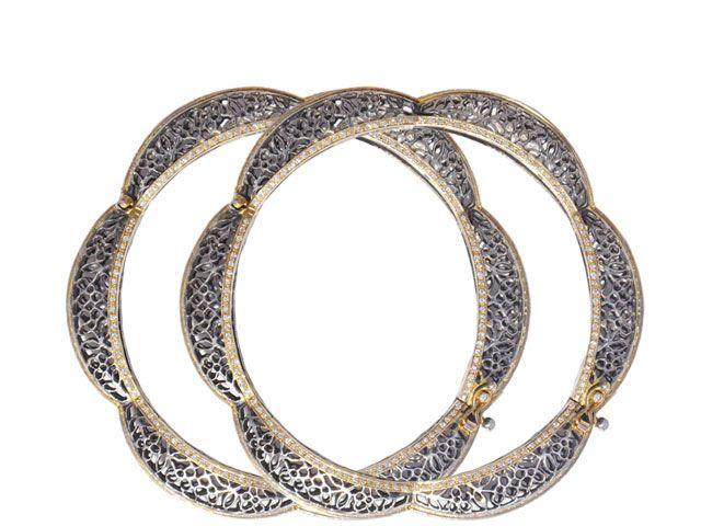 Victorian style Bangle, Karni Jewelers