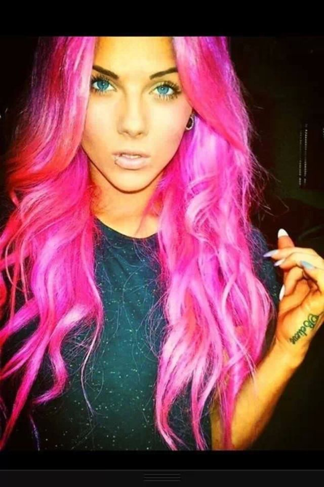 bright hair styles bright pink and sassy curly locks hair cut color 3060