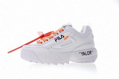Off white x FILA Disruptor II 2 White Orange | Shoes