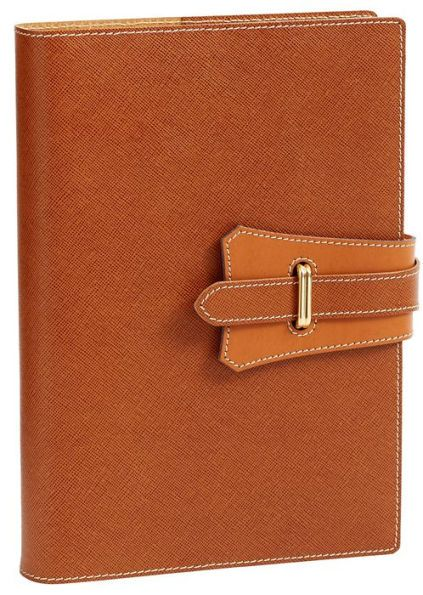 Borsa Tan with Snap Italian Leather Journal 6'' x 8''