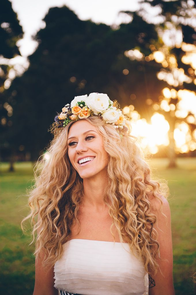 #flower crown #couronne de fleurs #cheveux #mariage #wedding