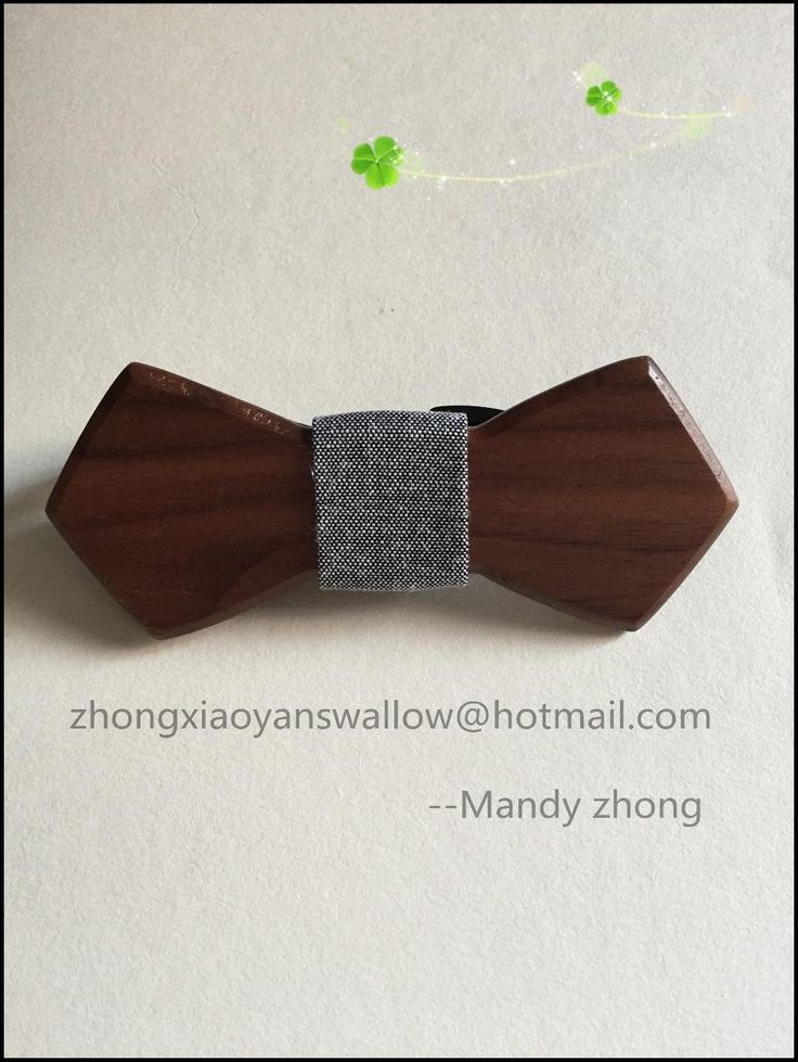 Hot Sale European Fashion Mens Accessory Wood Bow Tie For Men Party Butterfly Neck Tie