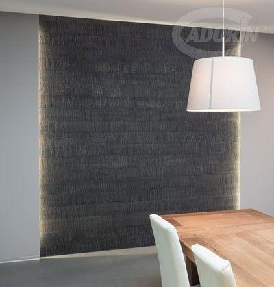 Wall cladding - European OAK, three solid wood layers. Rovere Carbone, rivestimento in listoni tre strati di legno massiccio. #cadorinmadeinitaly #interiordesign #wallcladding #sawncutting #tagliosega