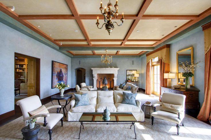 "Robin Williams' Villa Sorriso (""Villa of Smiles"") Robin Williams' Villa Sorriso (""Villa of Smiles"")Coffered ceilings are some of the tamer overhead detailing.                                                                                             ..."