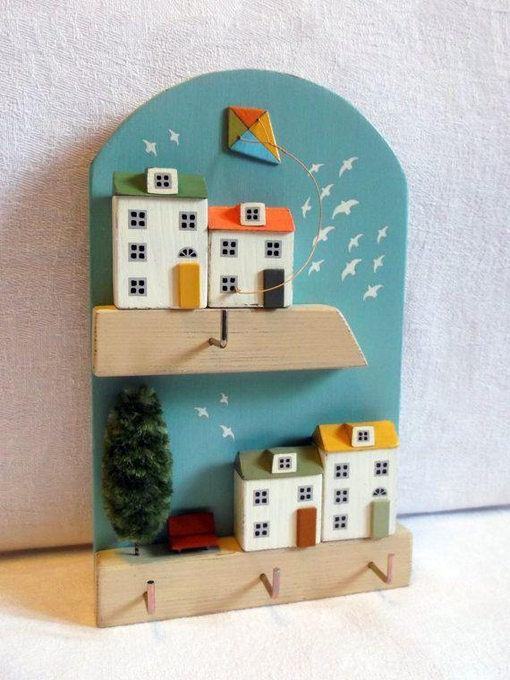 Key holder Wall Key Holder miniature house от KseniaBerzina