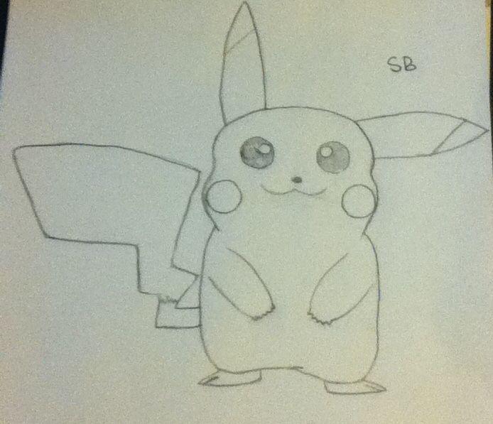 Drew a pikachu ^.^ kawaii