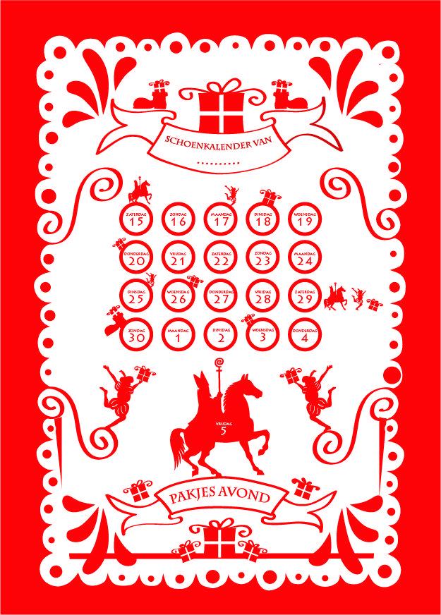 Sinterklaas aftelkalender, schoenzetkalender