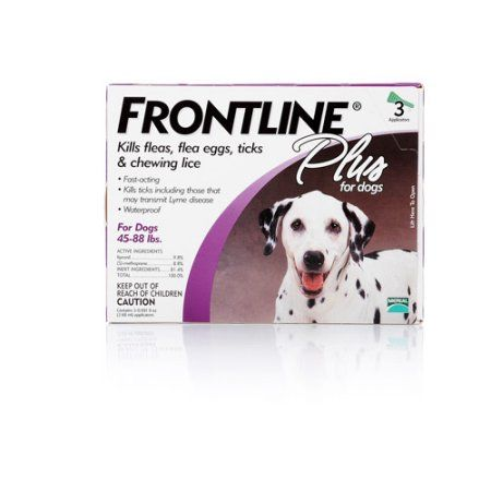 Frontline Plus for Dogs - Purple, 3 Month Supply