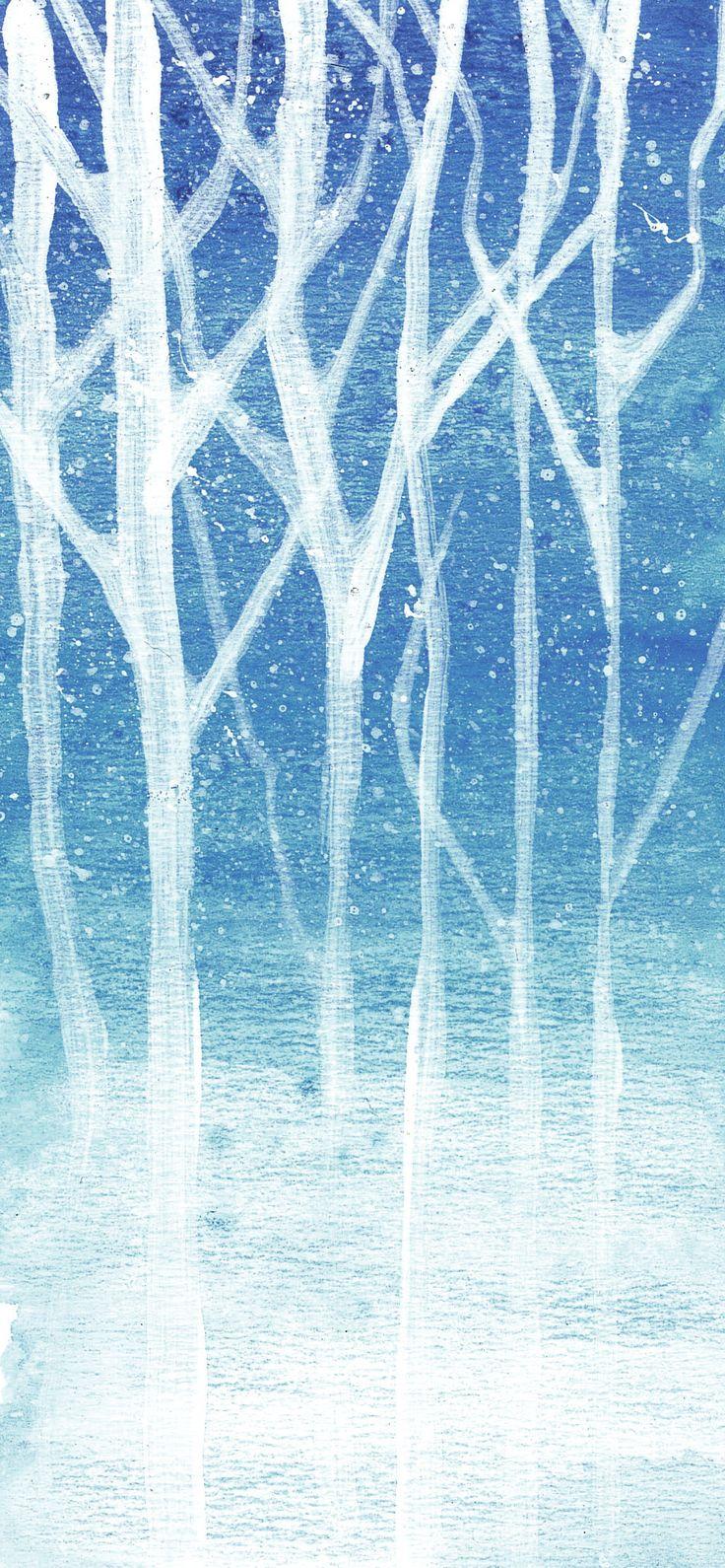 wintertrees - watercolour