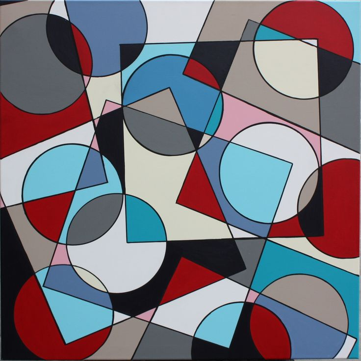 Circle and Square nr. 5 100  x  100 cm i akryl