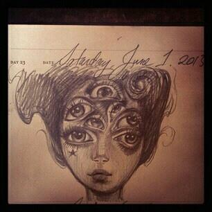 Kat Von D One Sketch A Day